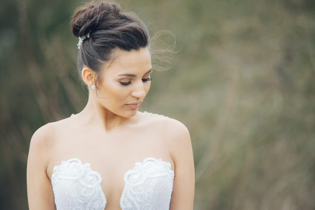 Bride wears Riki Dalal Gown from The White Gallery Ramsbottom