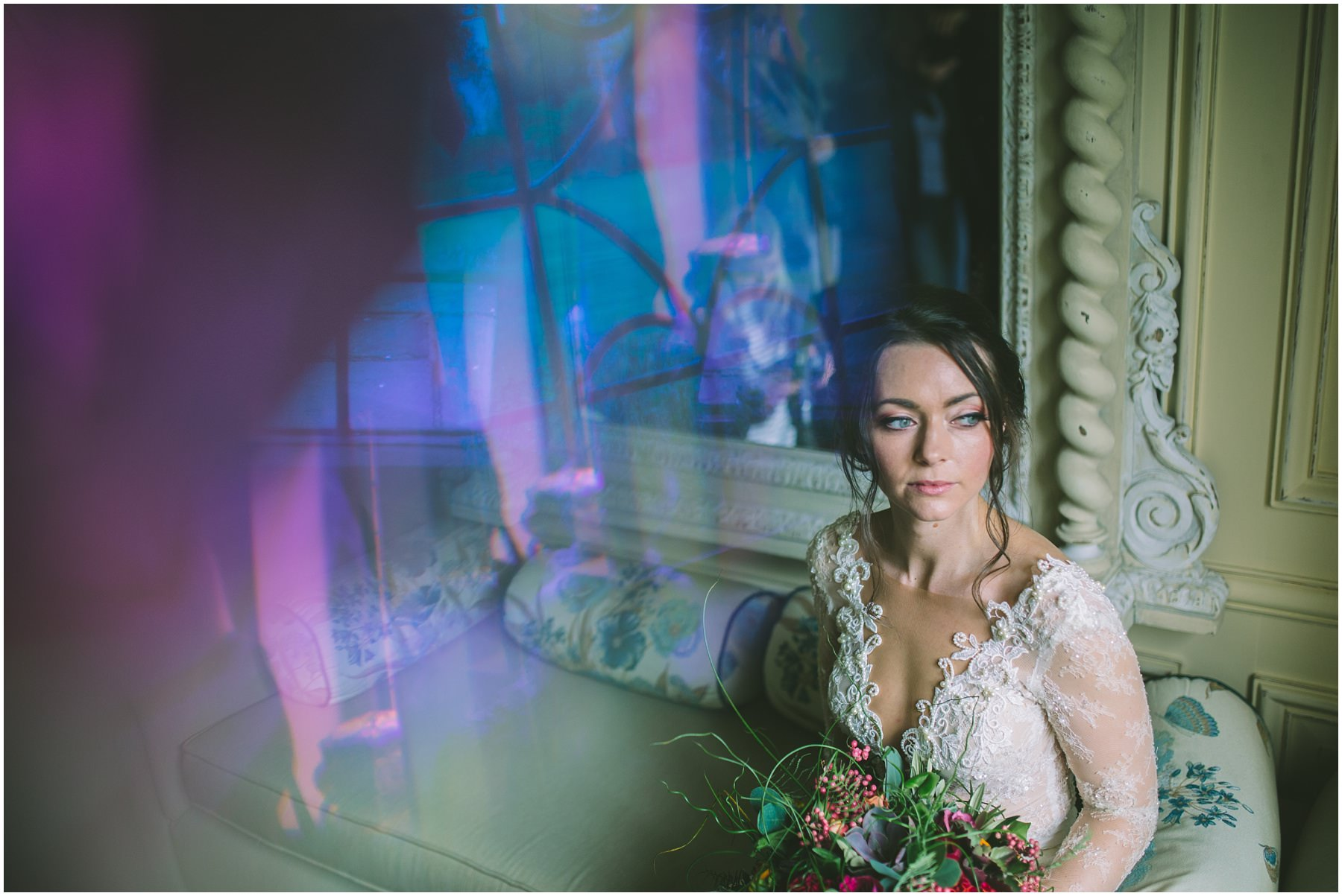 Bridal portrait with some lens flare