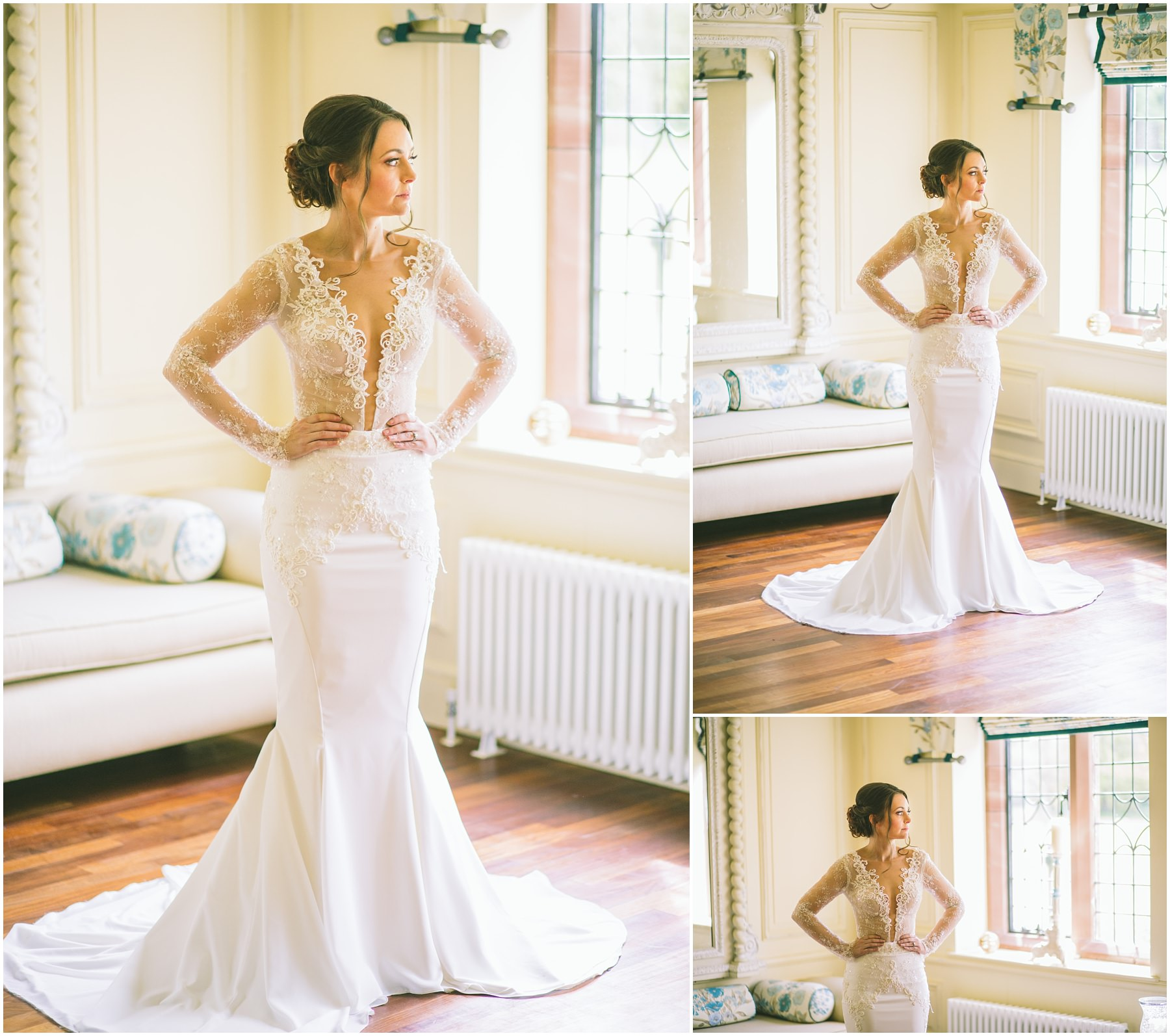 Berta Bridal dress at the stunning Colshaw Hall