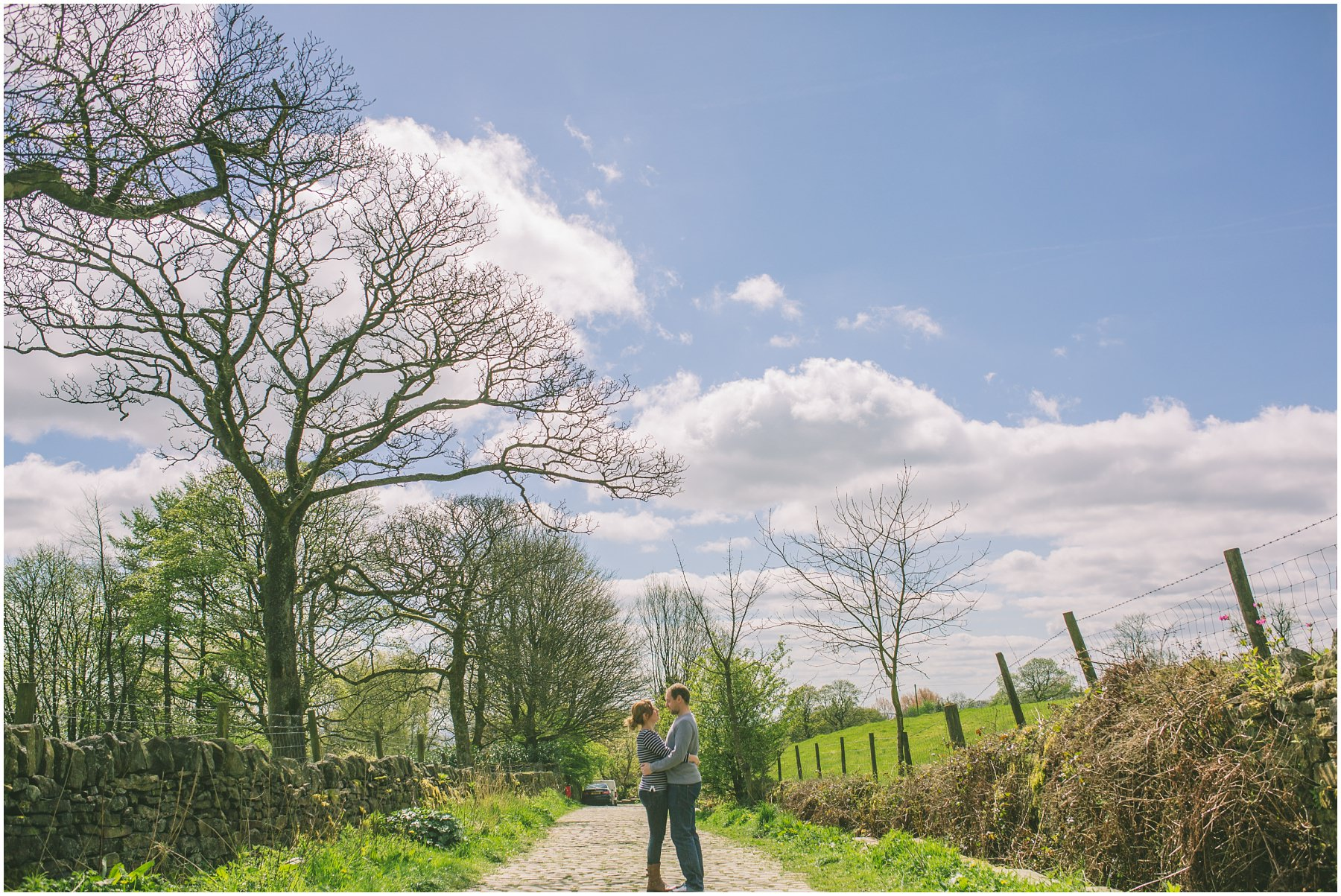 a couple in the sun in Ramsbottom, Lancashire