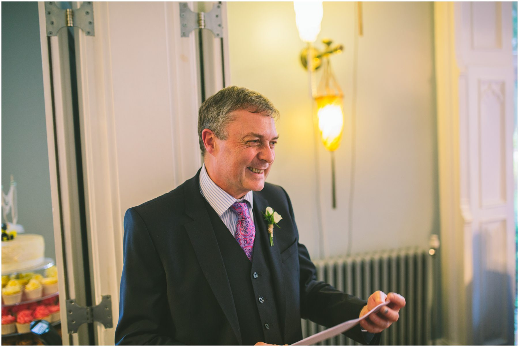 Father of the bride give a speech at Didsbury House Hotel