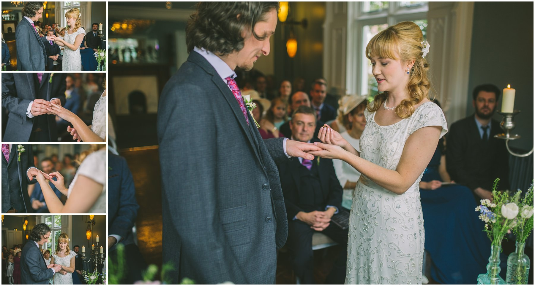The Exchange of Wedding Rings during a Didsbury House Wedding