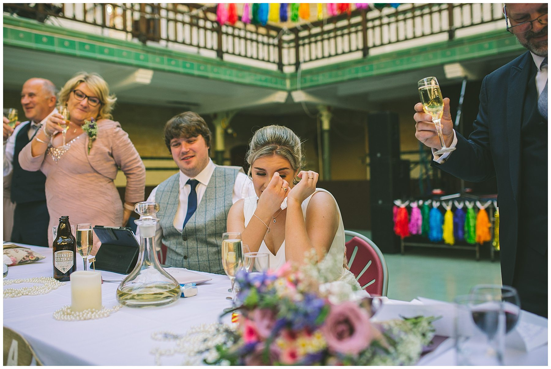 bride cries during her fathers speech