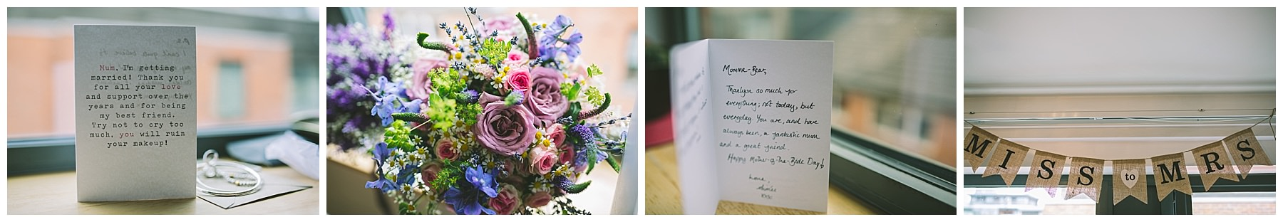 details and decoration on the morning of Olly and Aimees wedding
