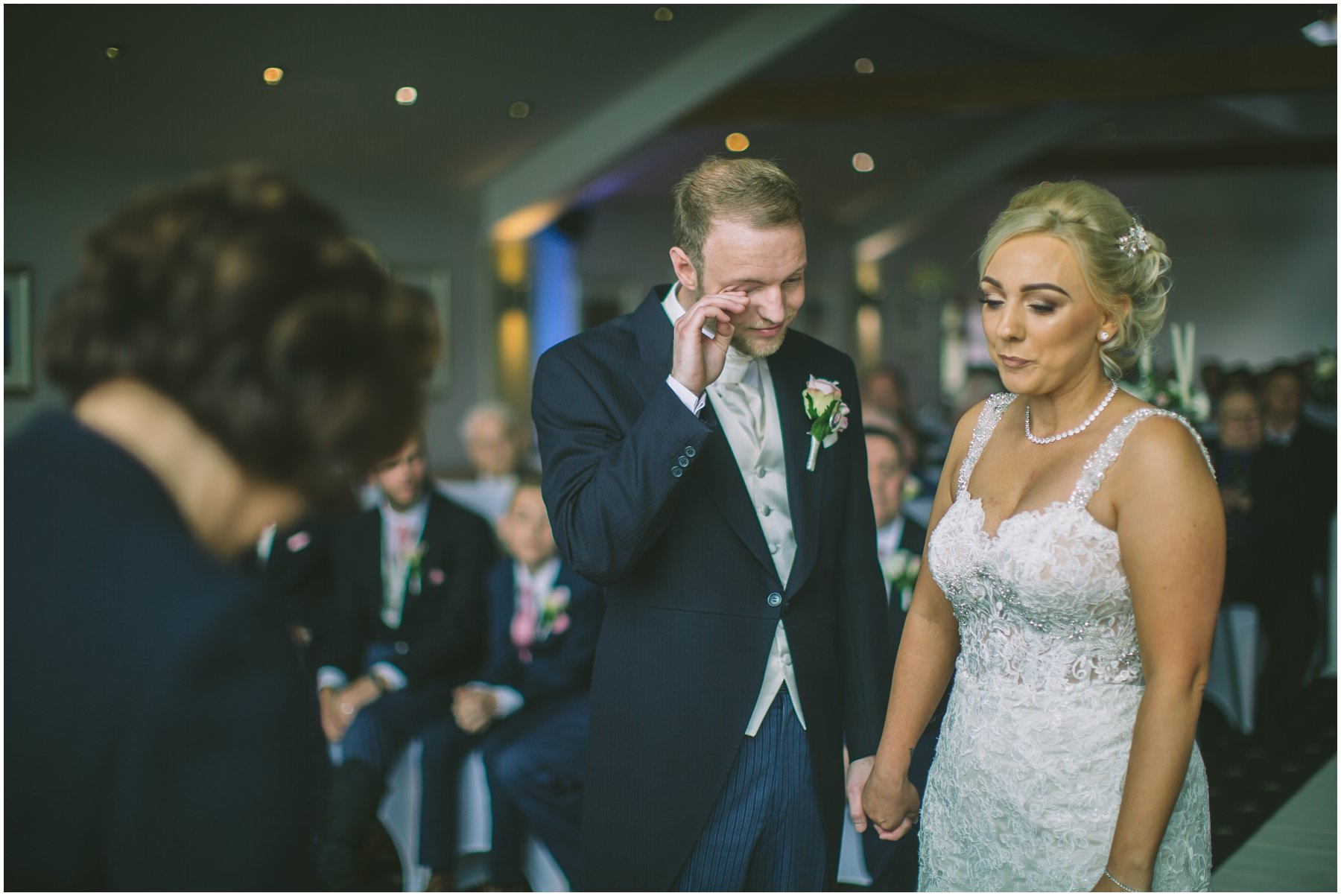 Groom sheds a tear at The Fishermans Retreat