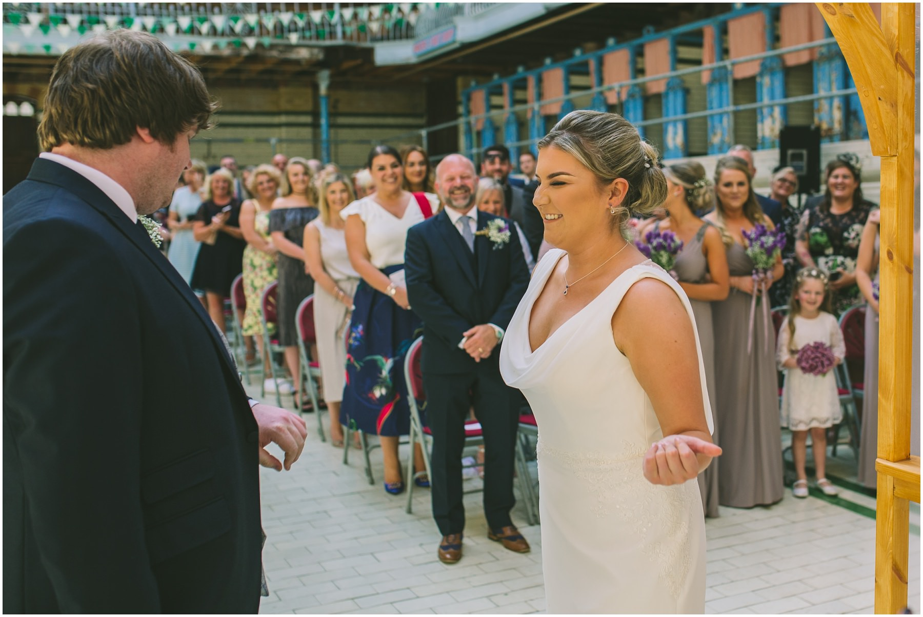 Couple get married in the swimming pool at Victoria Baths