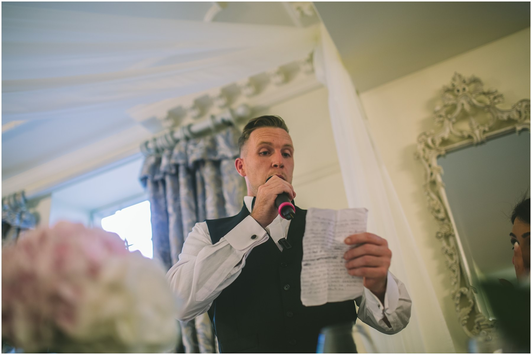 Grooms Speech at Eaves Hall