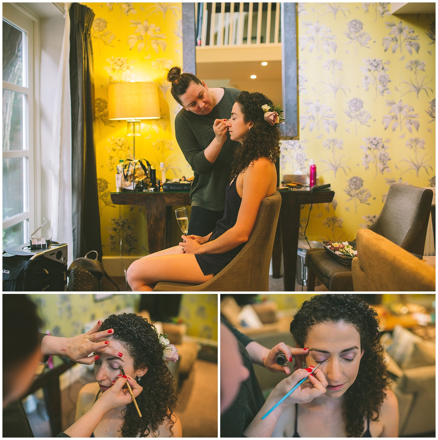 wedding make up taking place at eleven didsbury park