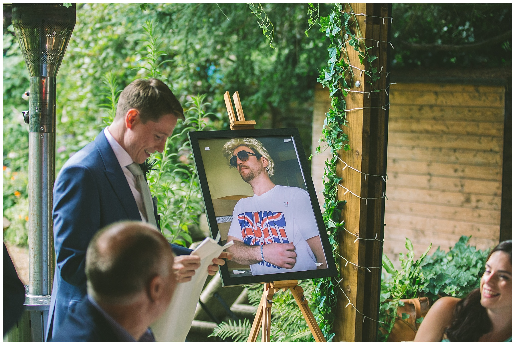 best man uses props to humiliate the groom