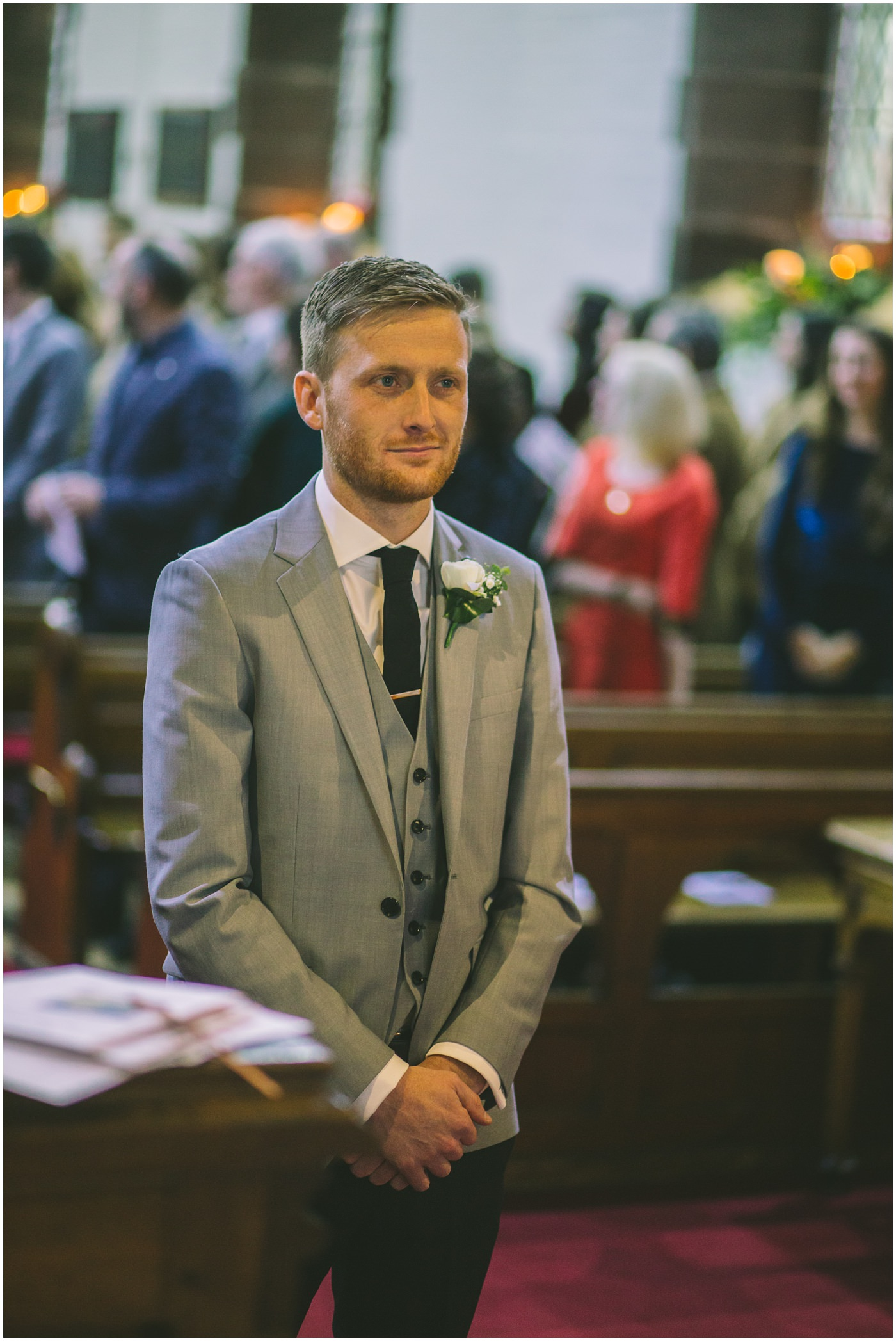 Groom awaiting the arival of his bride