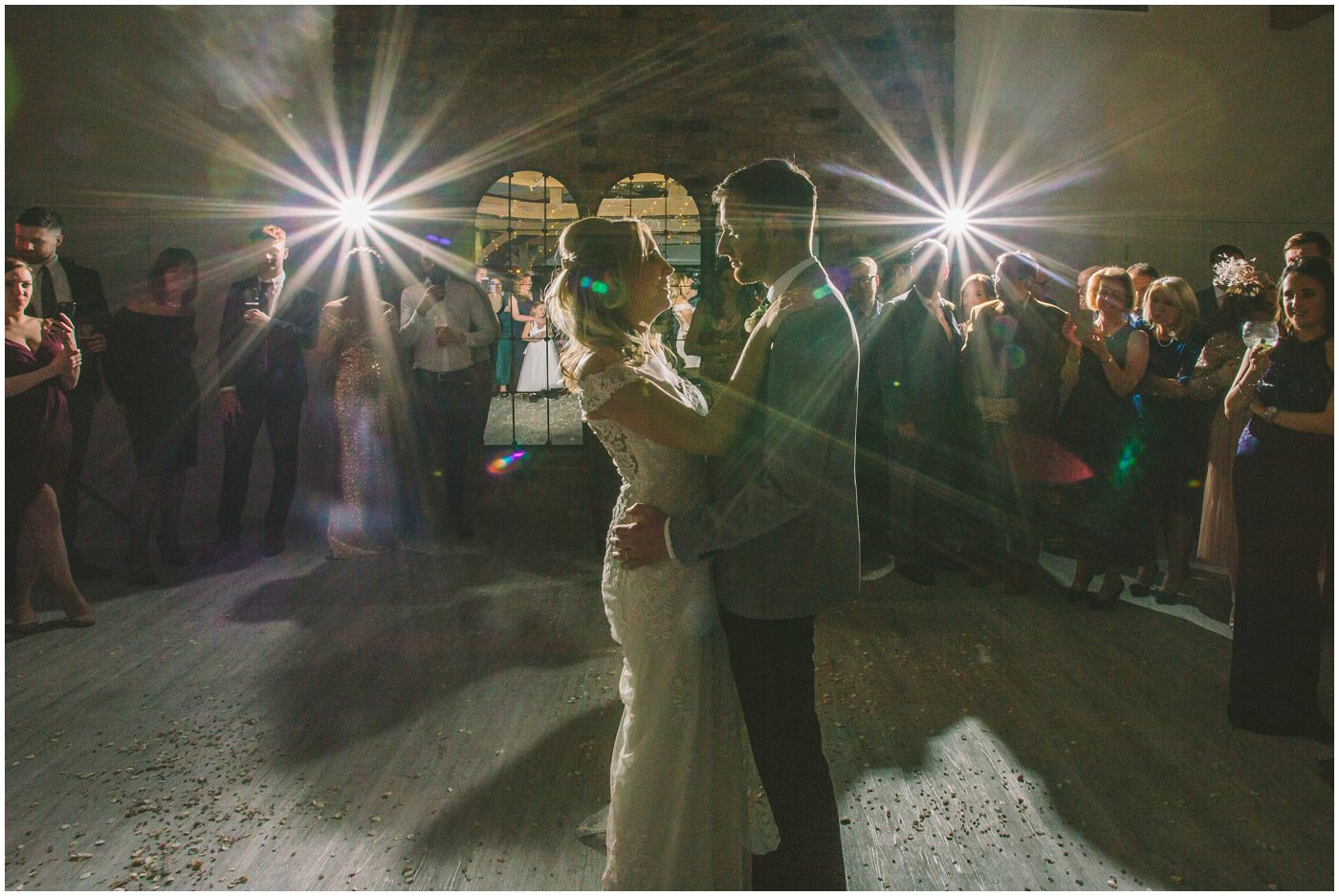 bride and groom take to the dance floor at Pryors Hayes for their first dance