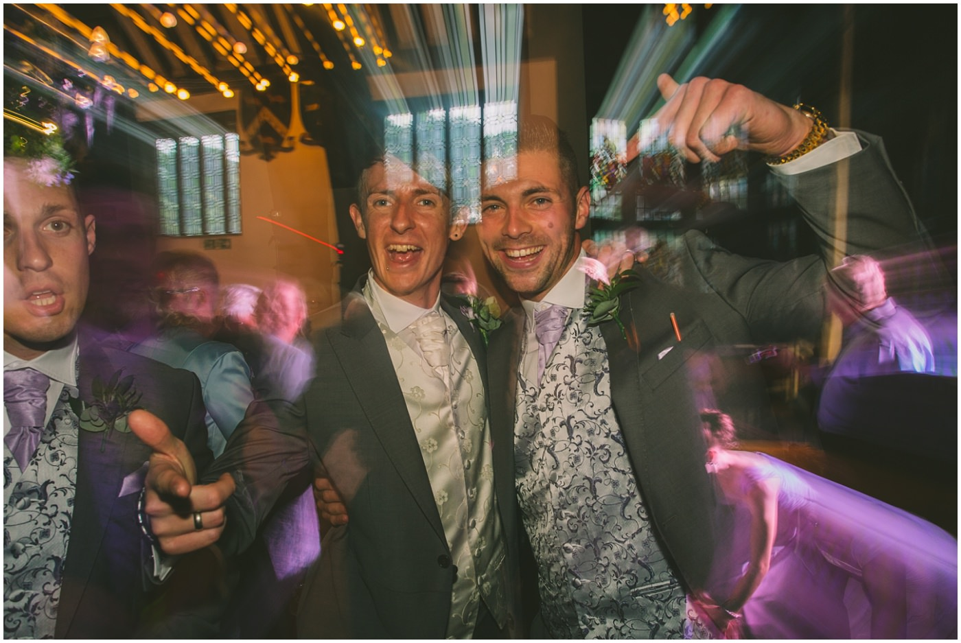 groom and his best man on the dancefloor