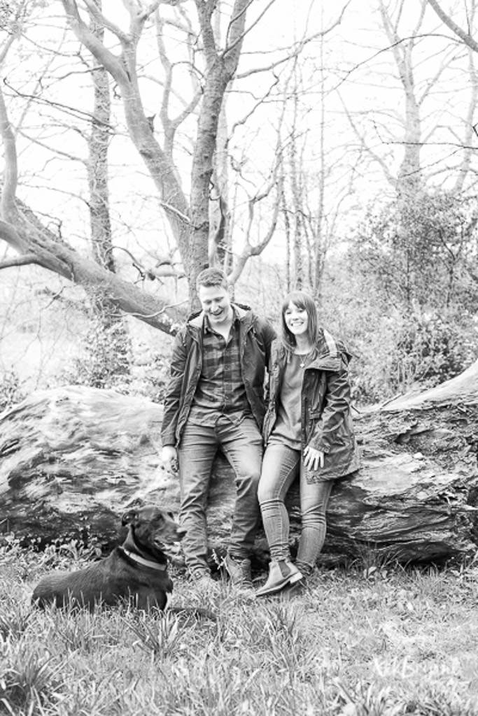 Engagement Shoot Stoke Wedding Dog Woodland Couple Love
