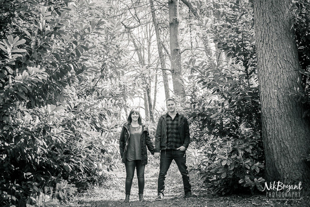 Engagement Shoot Stoke Wedding Woodland Couple Love