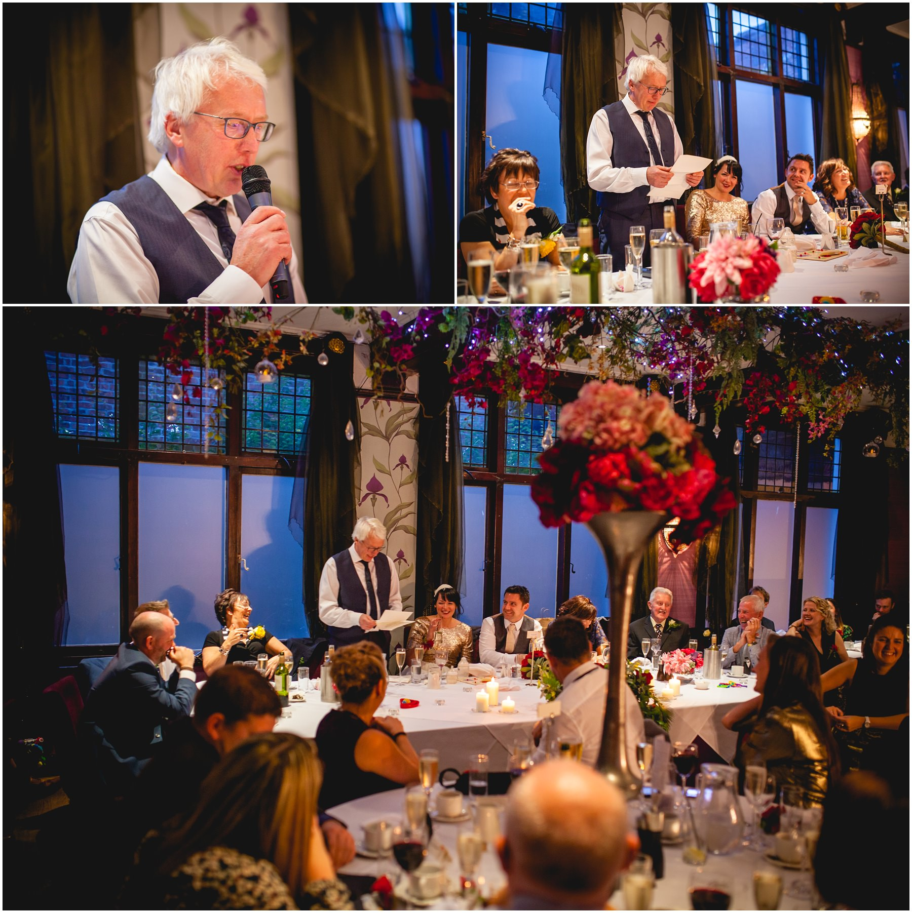 Father of the Bride gives a speech at The Belle Epoque