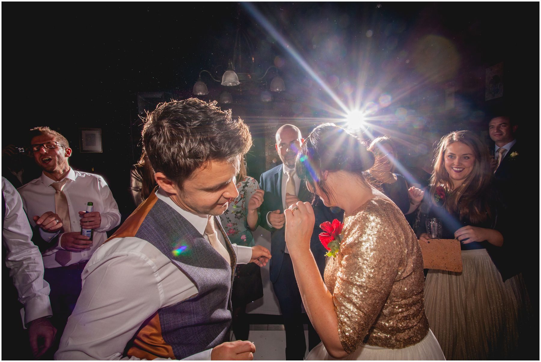Bride and groom dancing at the belle epoque