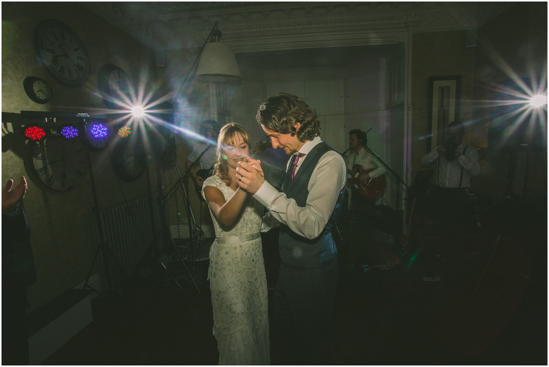 Bride and Groom enjoy a first dance at Didsbury House Hotel