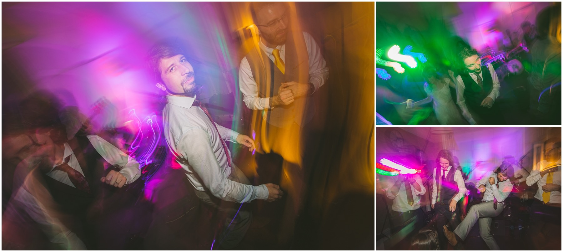 The Groom and friends party the night away at Didsbury House
