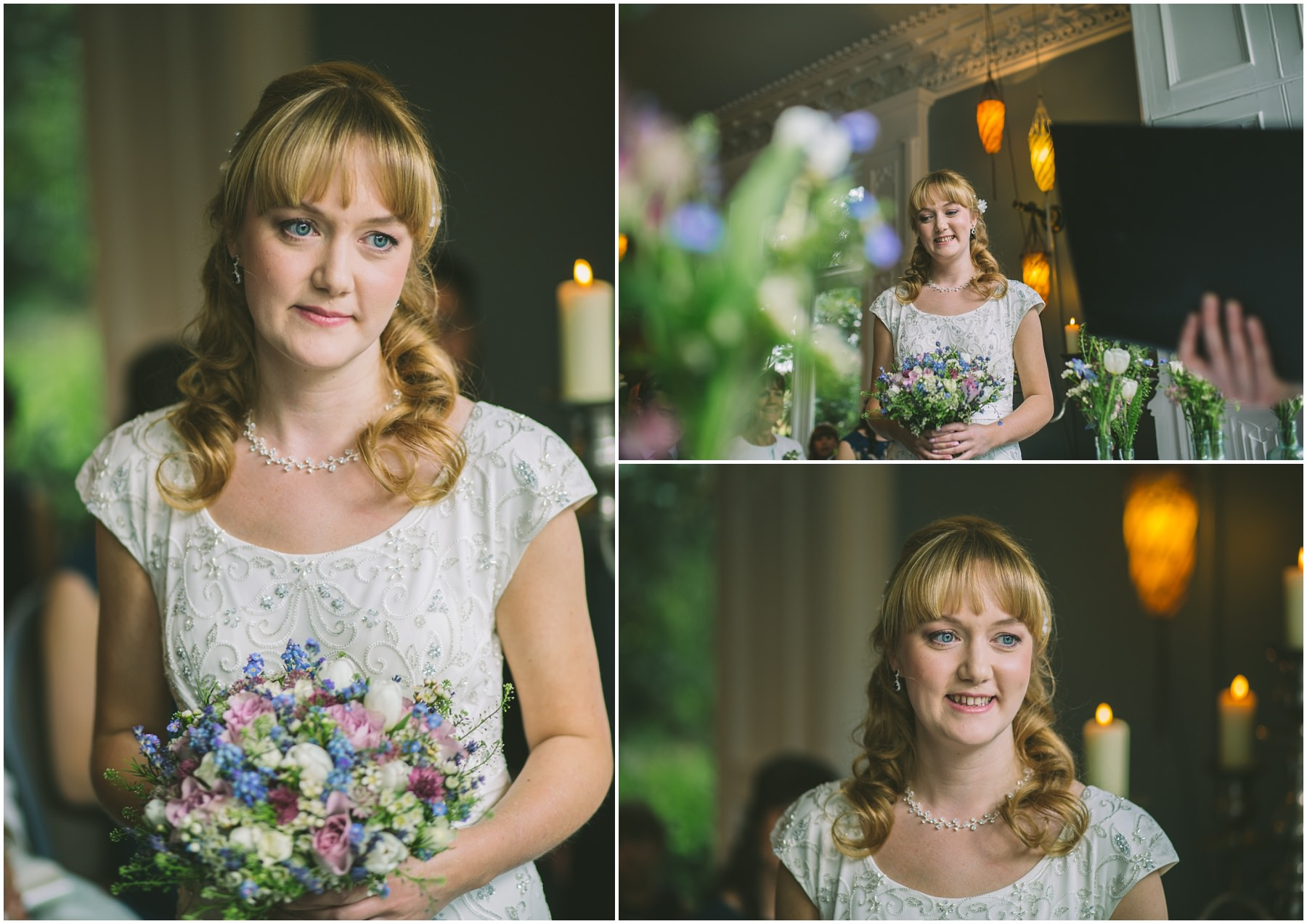 Bride during the wedding ceremony at Didsbury House