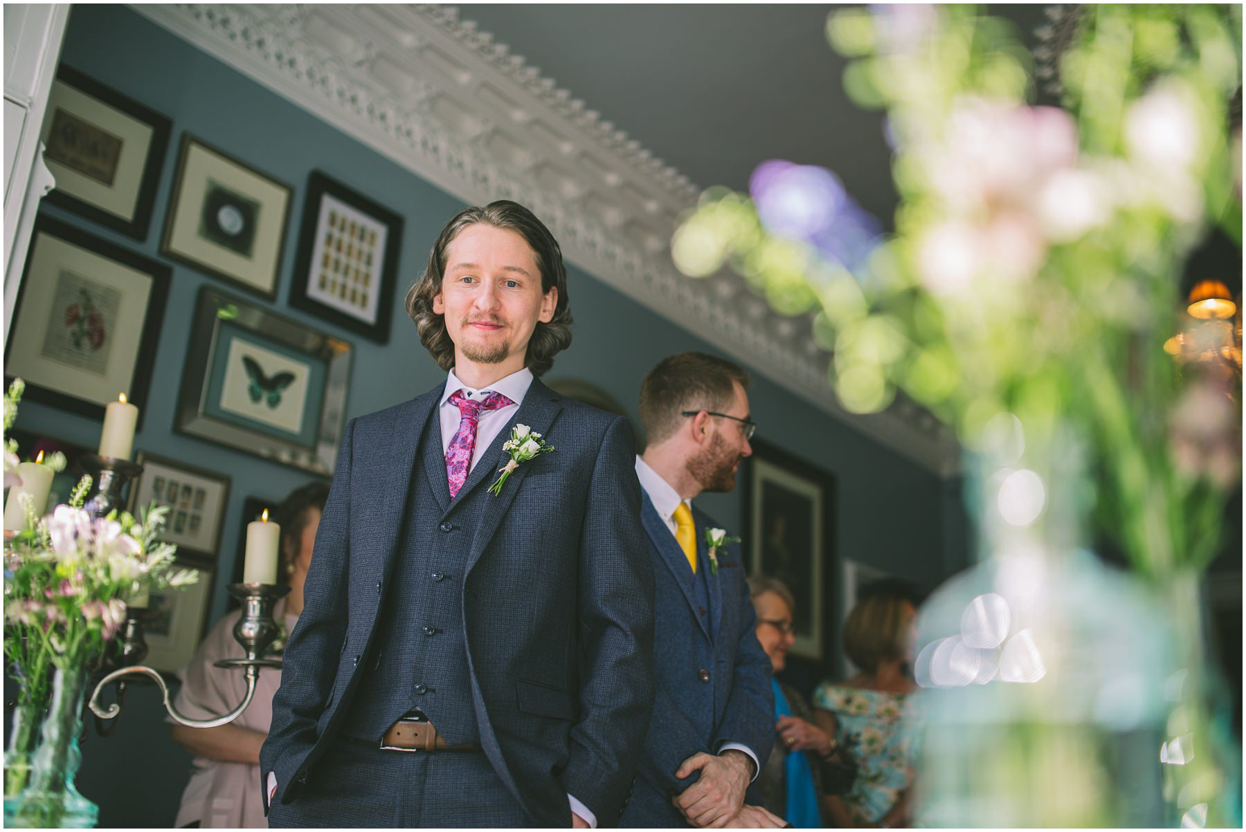 Groom waits nervously for his bride at Didsbury House