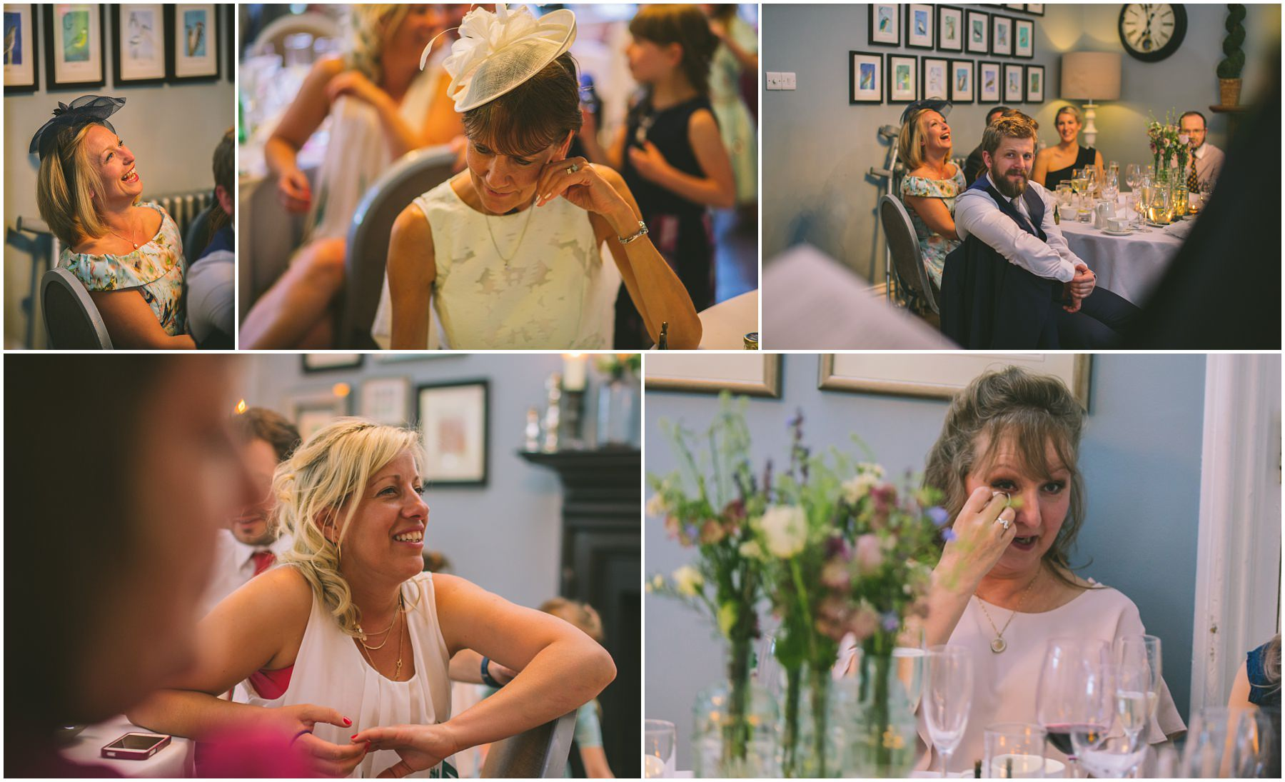 Guests react to the speeches at Didsbury House