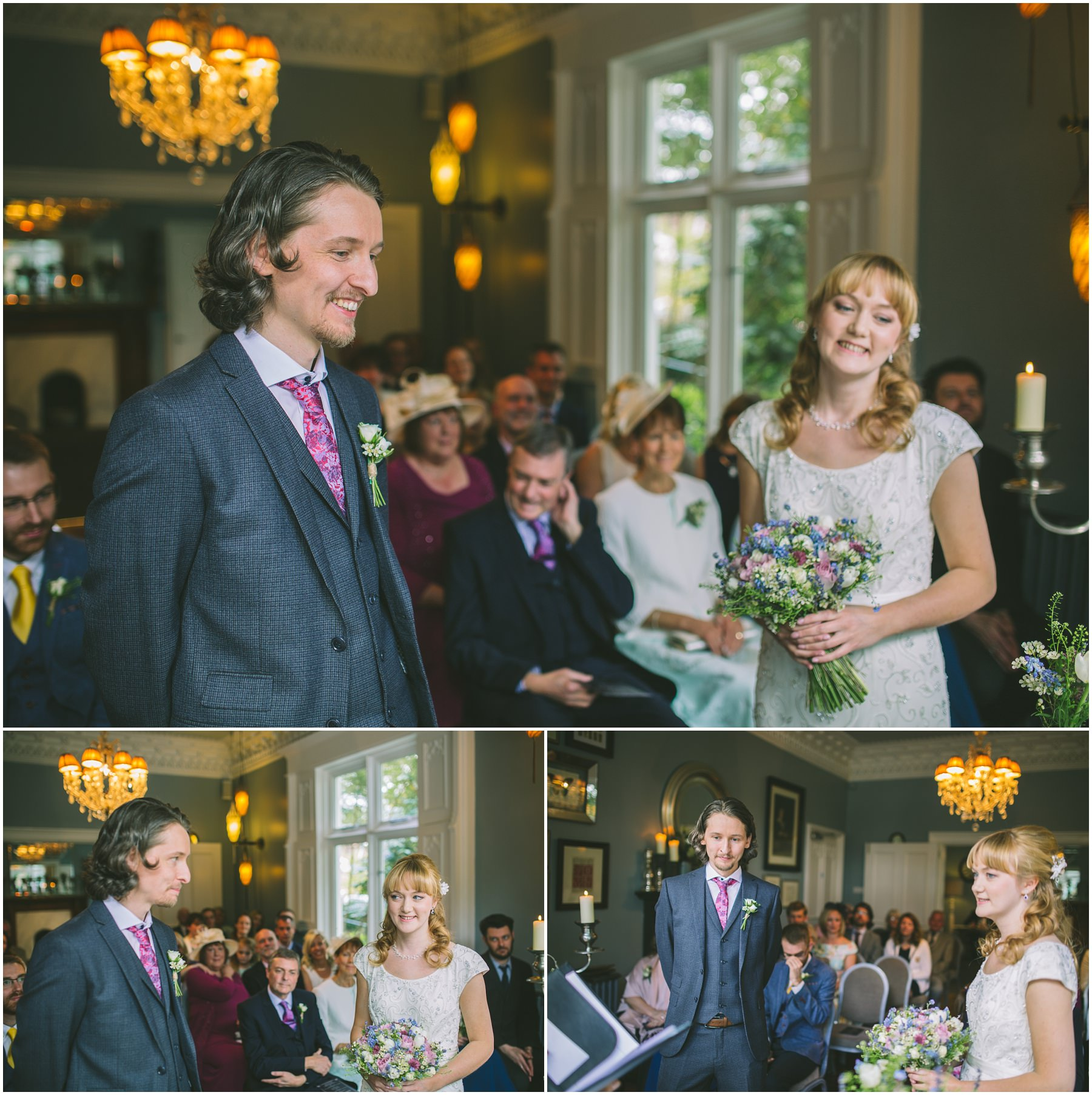 Wedding Ceremony in The Blue Room at Didsbury House