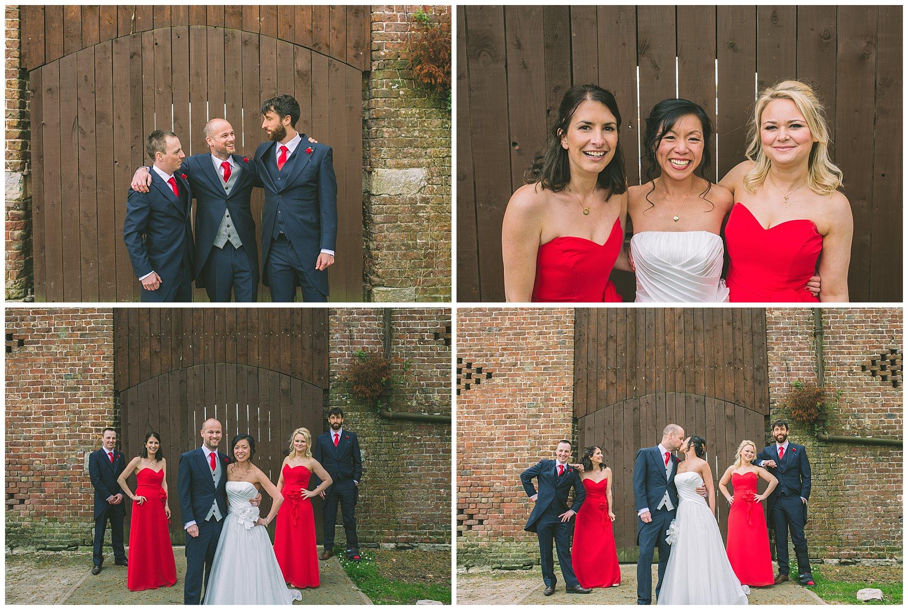 Bridesmaids and Groomsmen group photos at Pentre Mawr