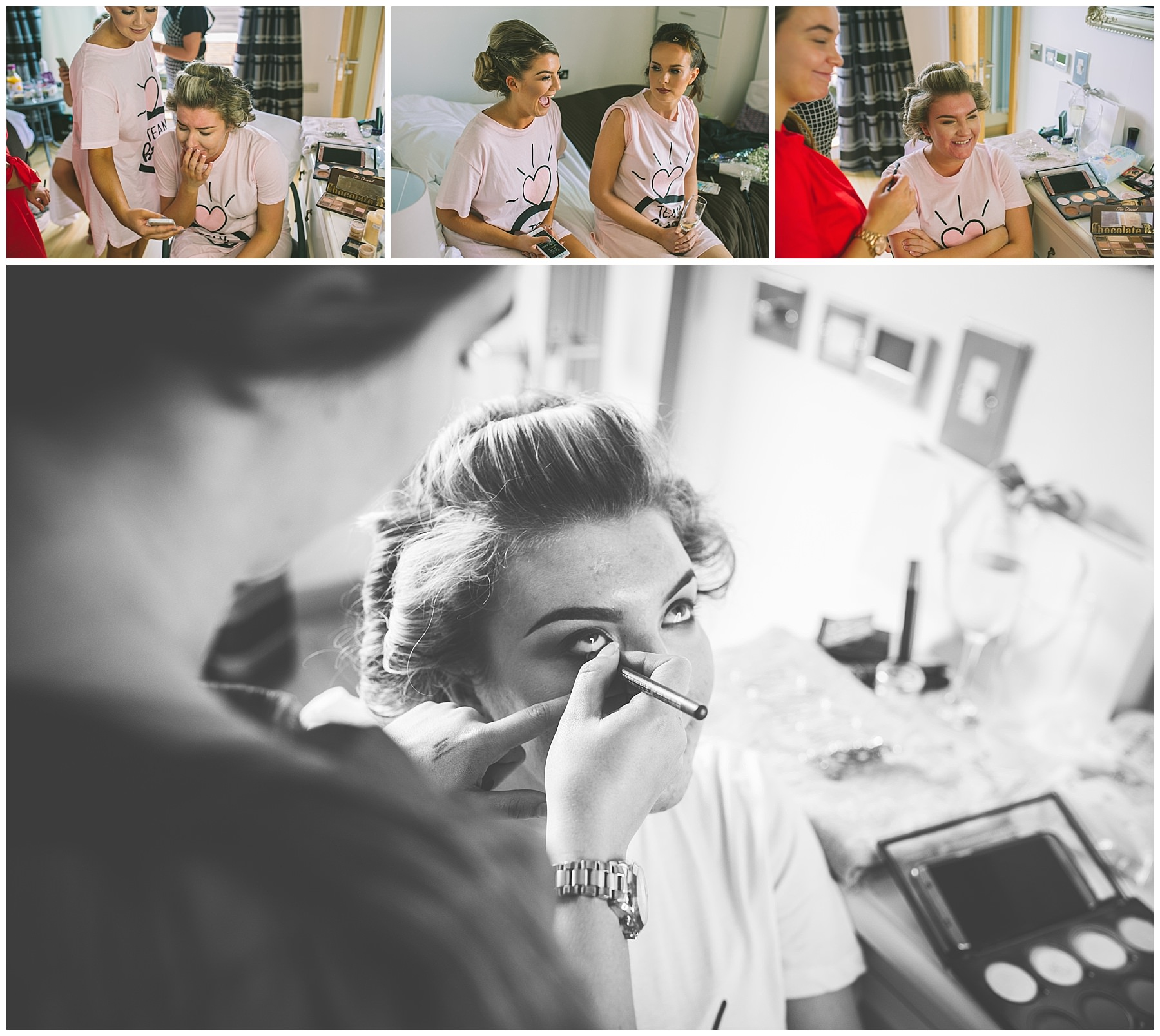 emotional moments during bridal prep