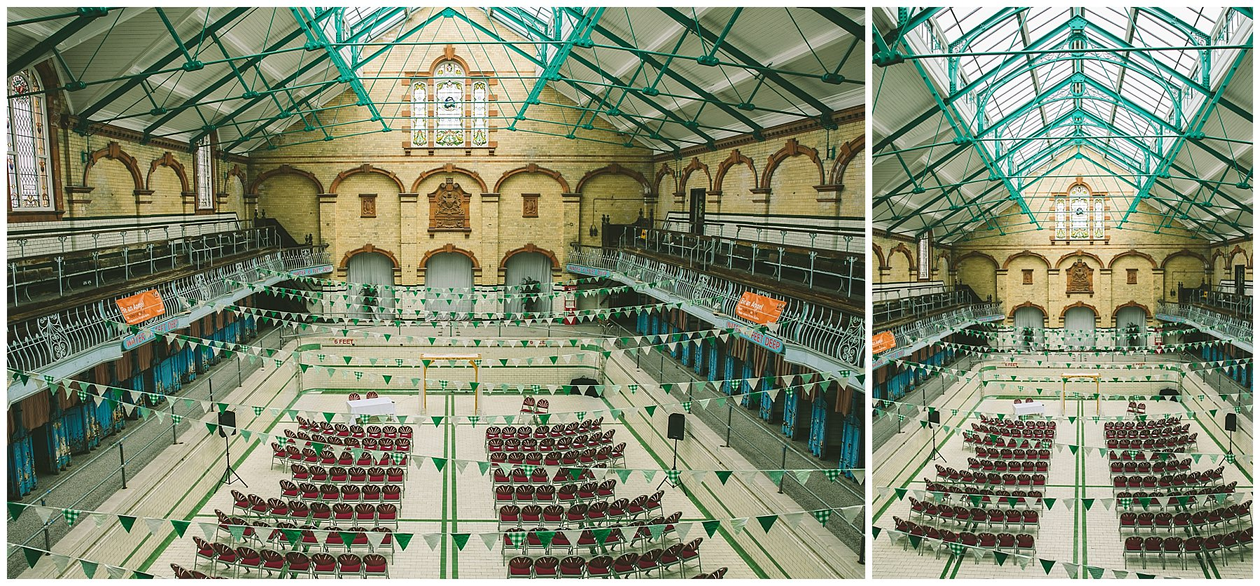 Victoria Baths ceremony set up