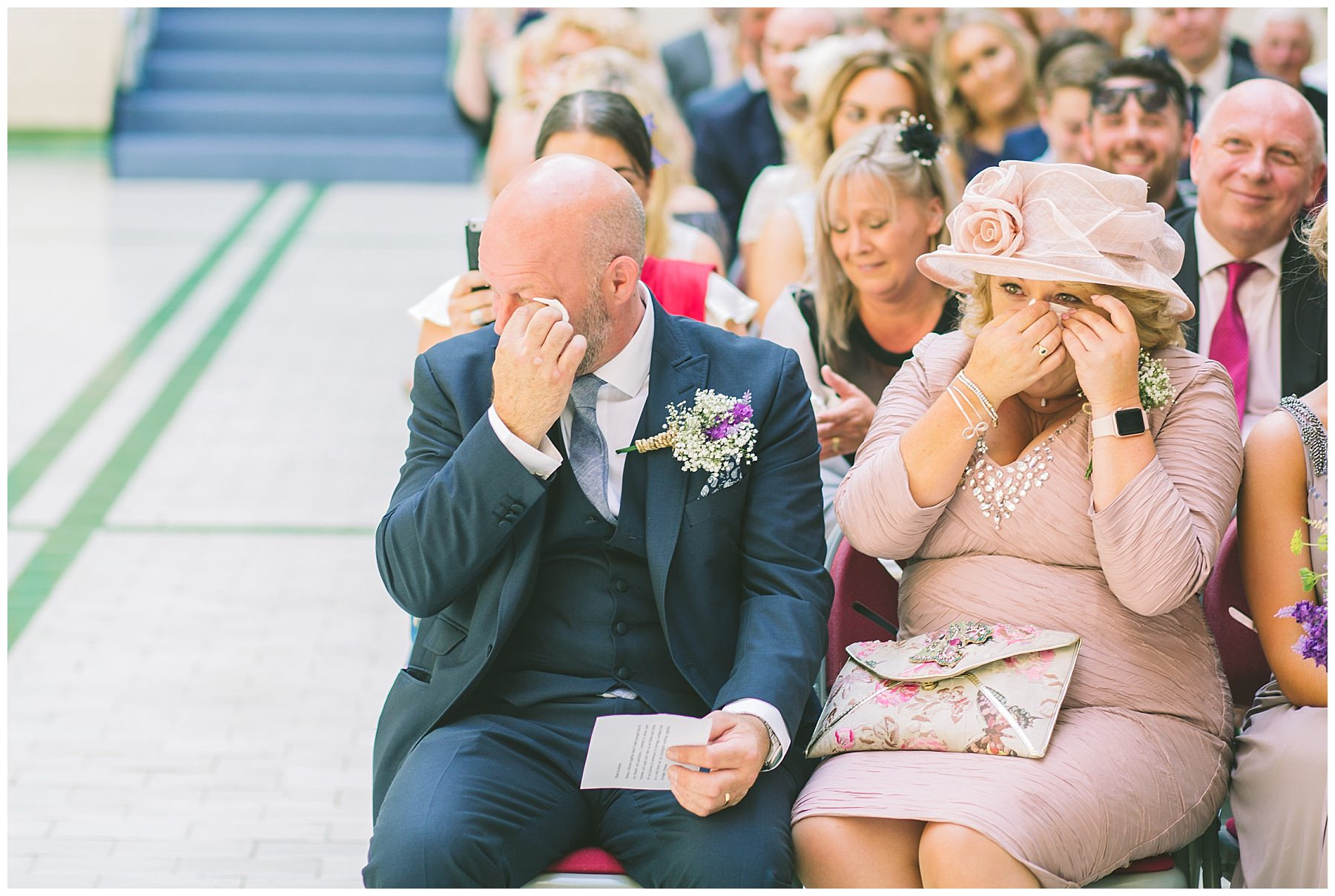 brides parents get emotional during wedding ceremony