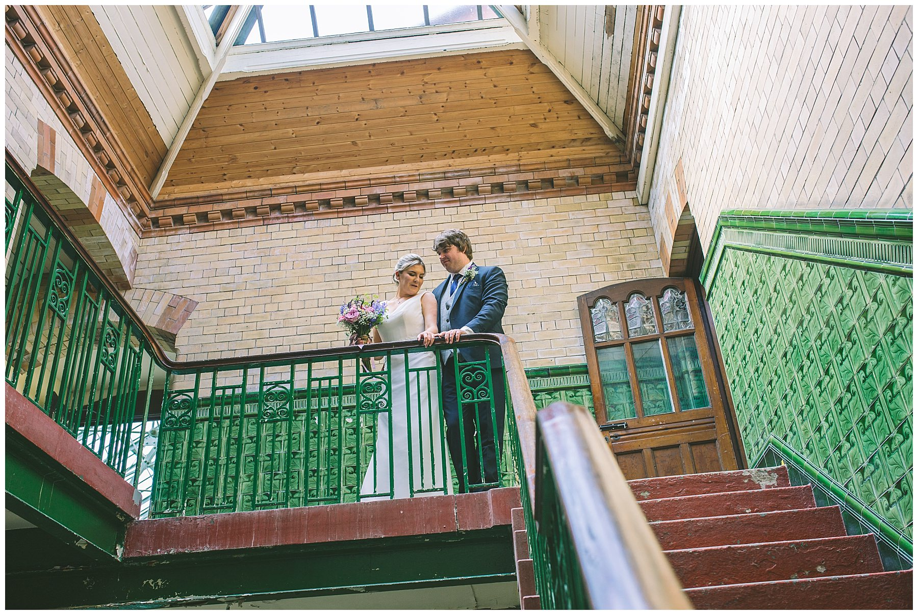 Couples portraits at Victoria Baths