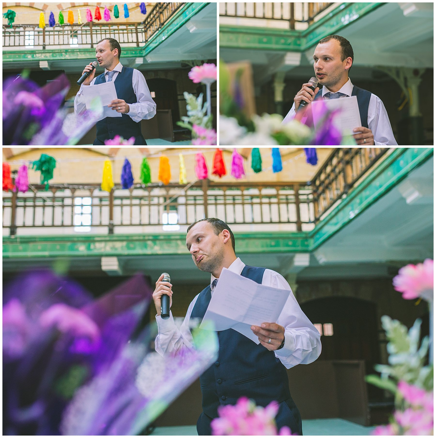 The best man speaks at a Victoria Baths Wedding