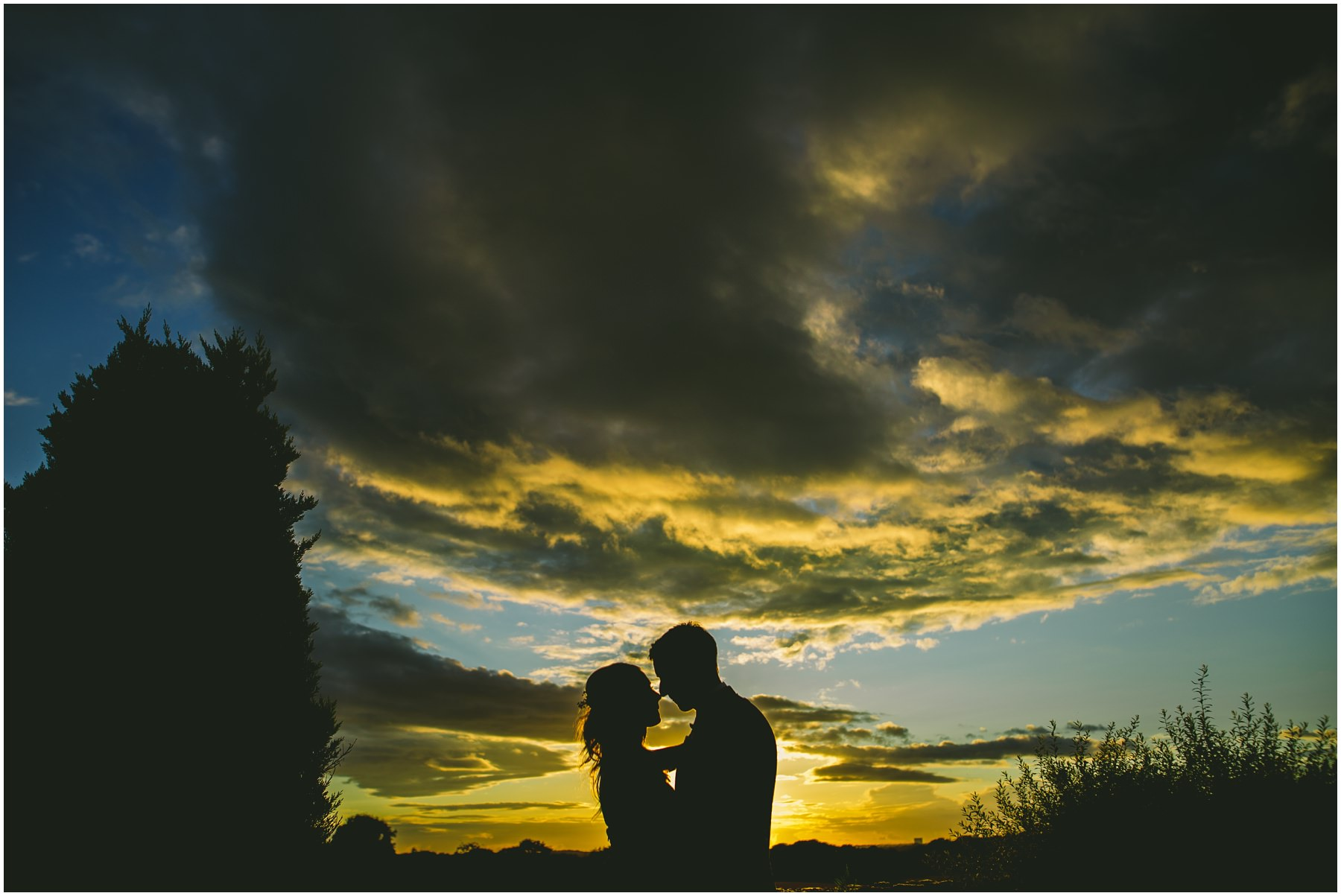 Couples silhouette at Beeston Manor