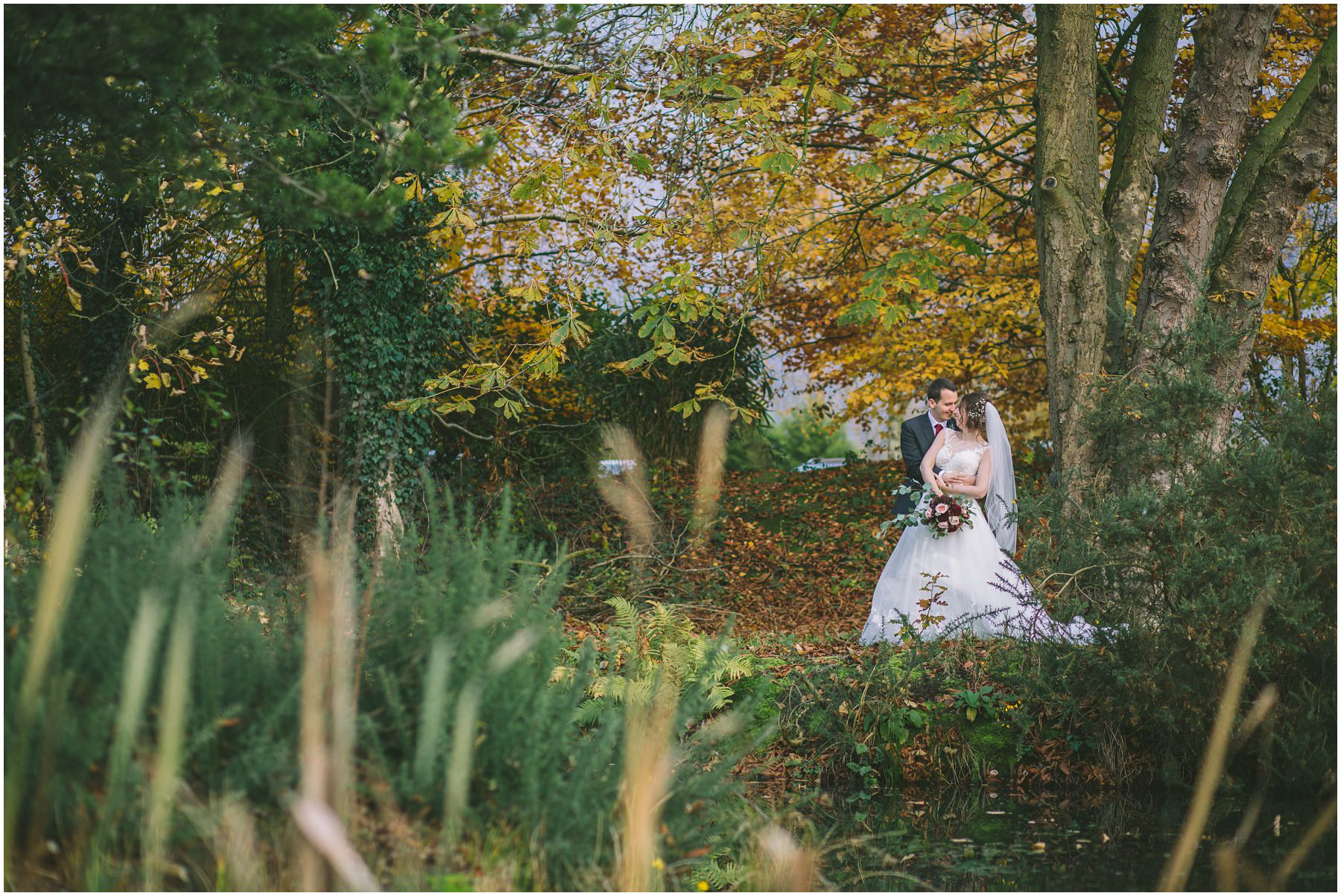 Wedding portraits at The Oak Tree Of Peover