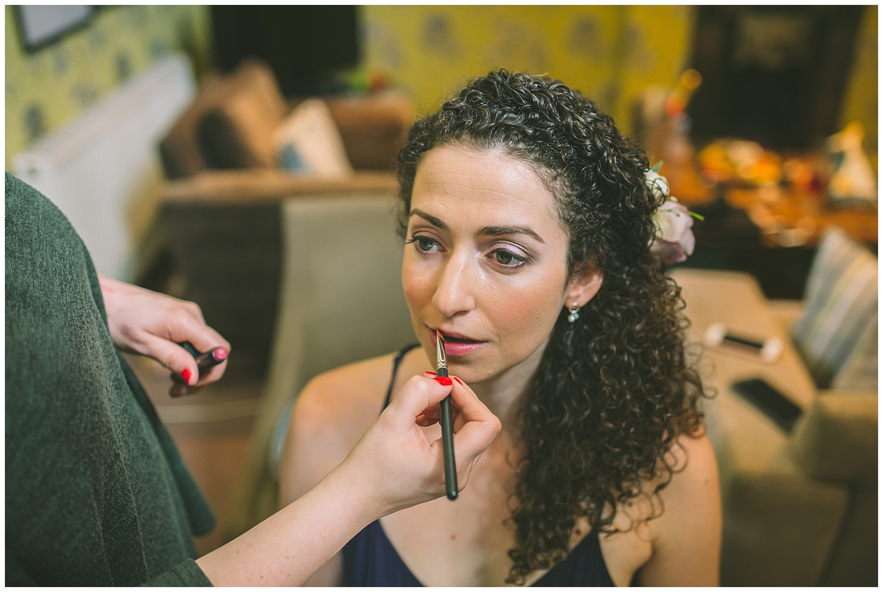 bridal make up being applied