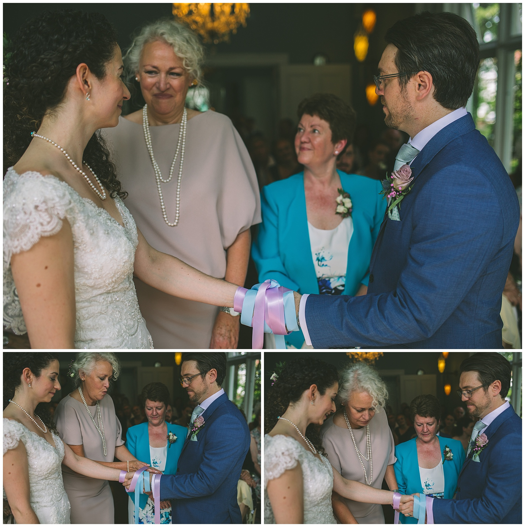 Traditional Hand fasting ceremony at didsbury house hotel