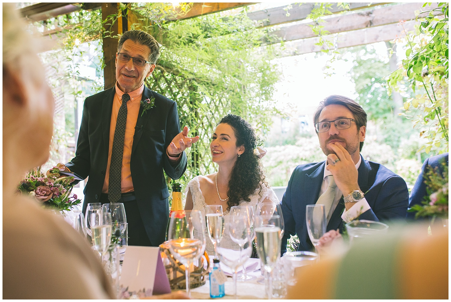 Father of the bride gives his speech at a Didsbury wedding