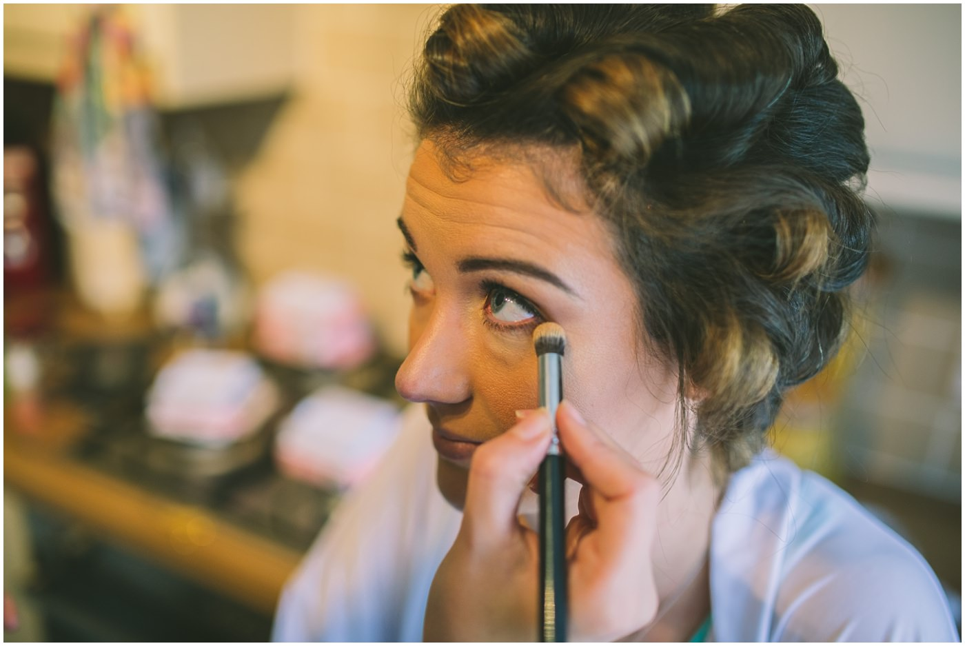 Bridal make up for samlesbury hall wedding