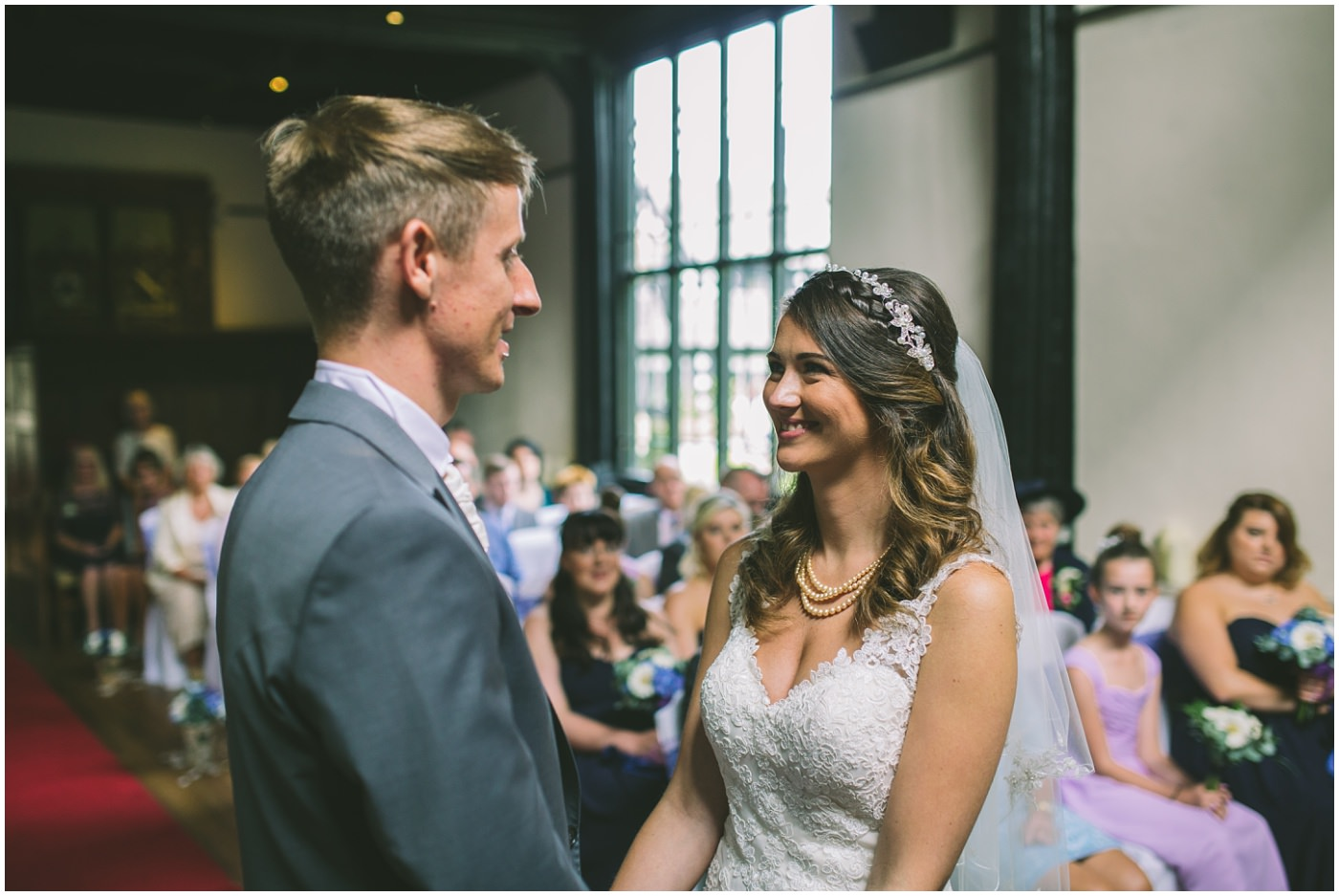 Samlesbury Hall wedding ceremony