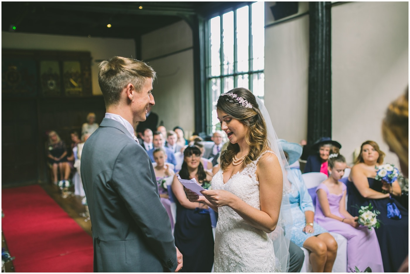 Kaylie and James exchange vows