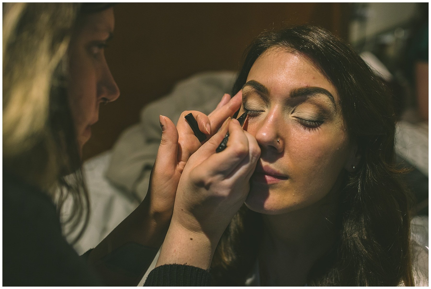 Bridal makeup at King Street Townhouse wedding