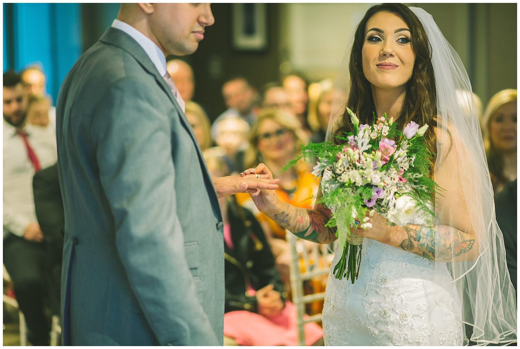 ring exchange during king street townhouse wedding