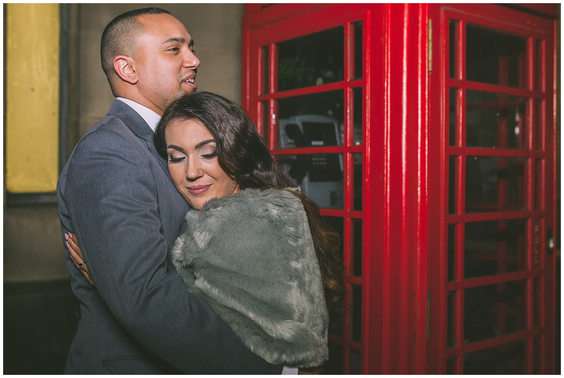 Winter wedding portraits in Manchester