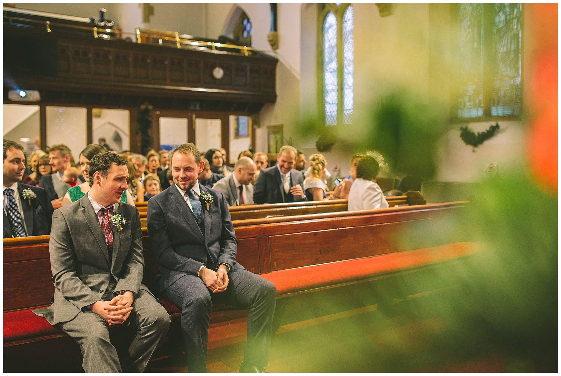Best man helps calm the nerves of the groom at ramsbottom wedding