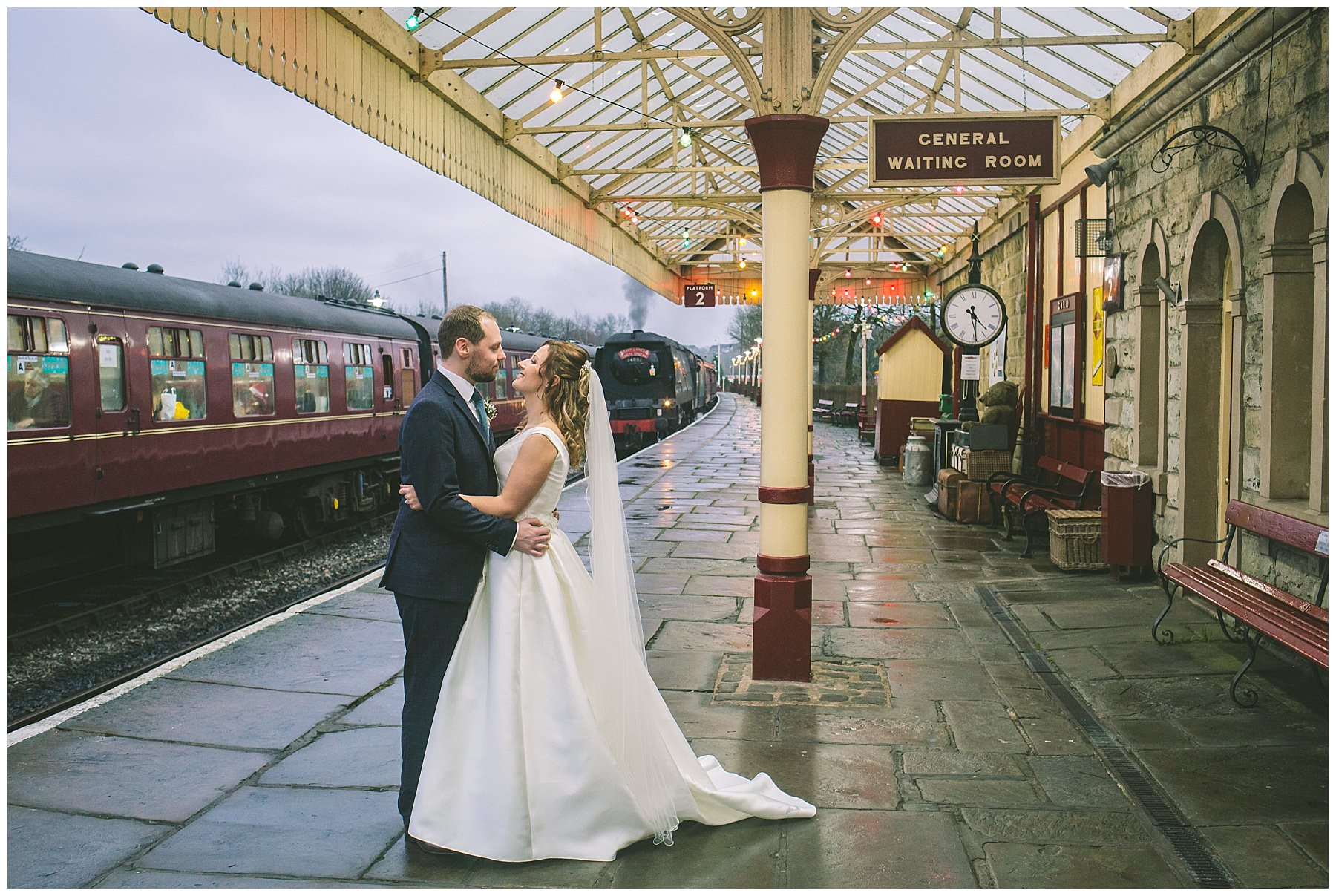 Ramsbottom steam rail wedding photography