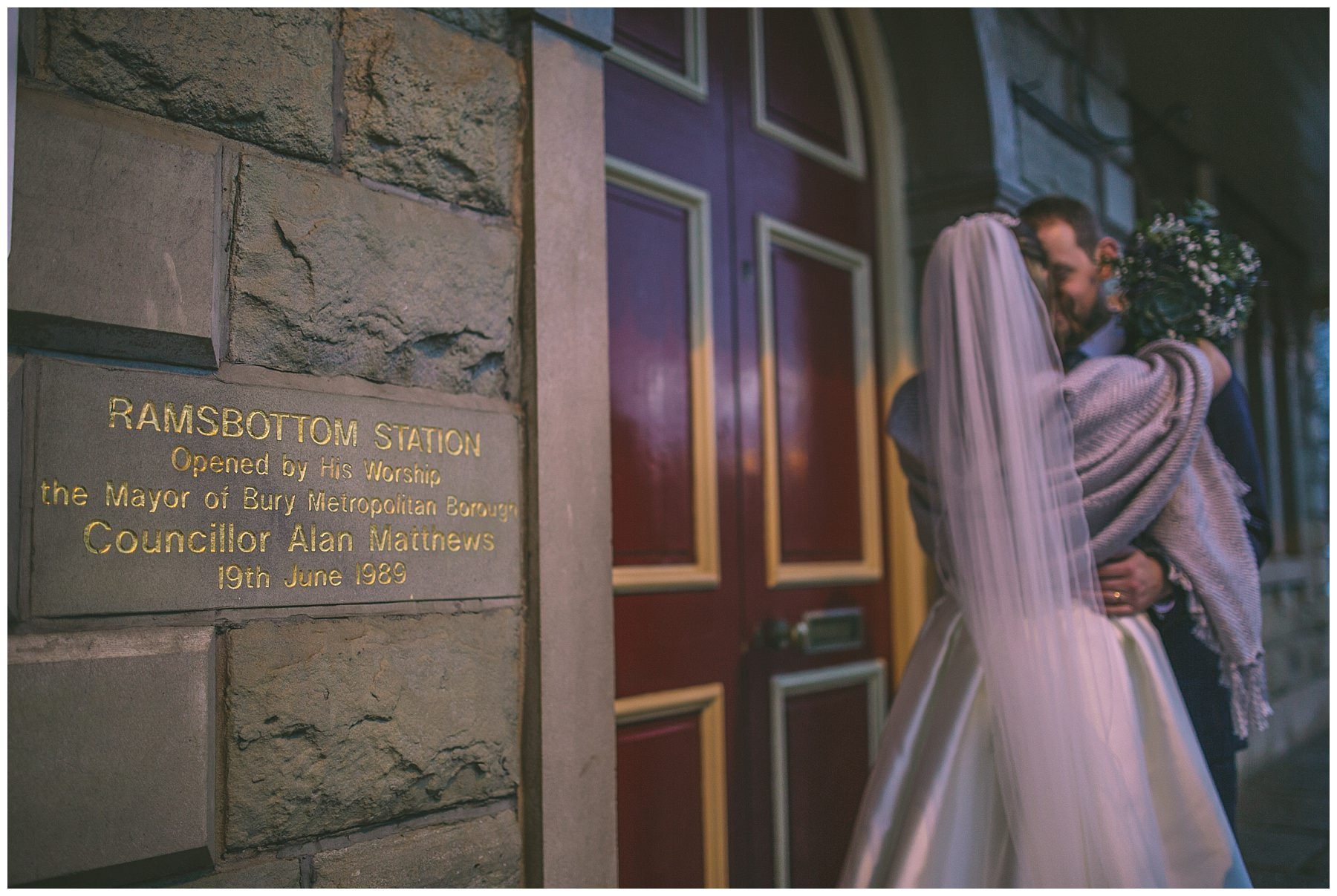 Wedding photography taken at Ramsbottom train station