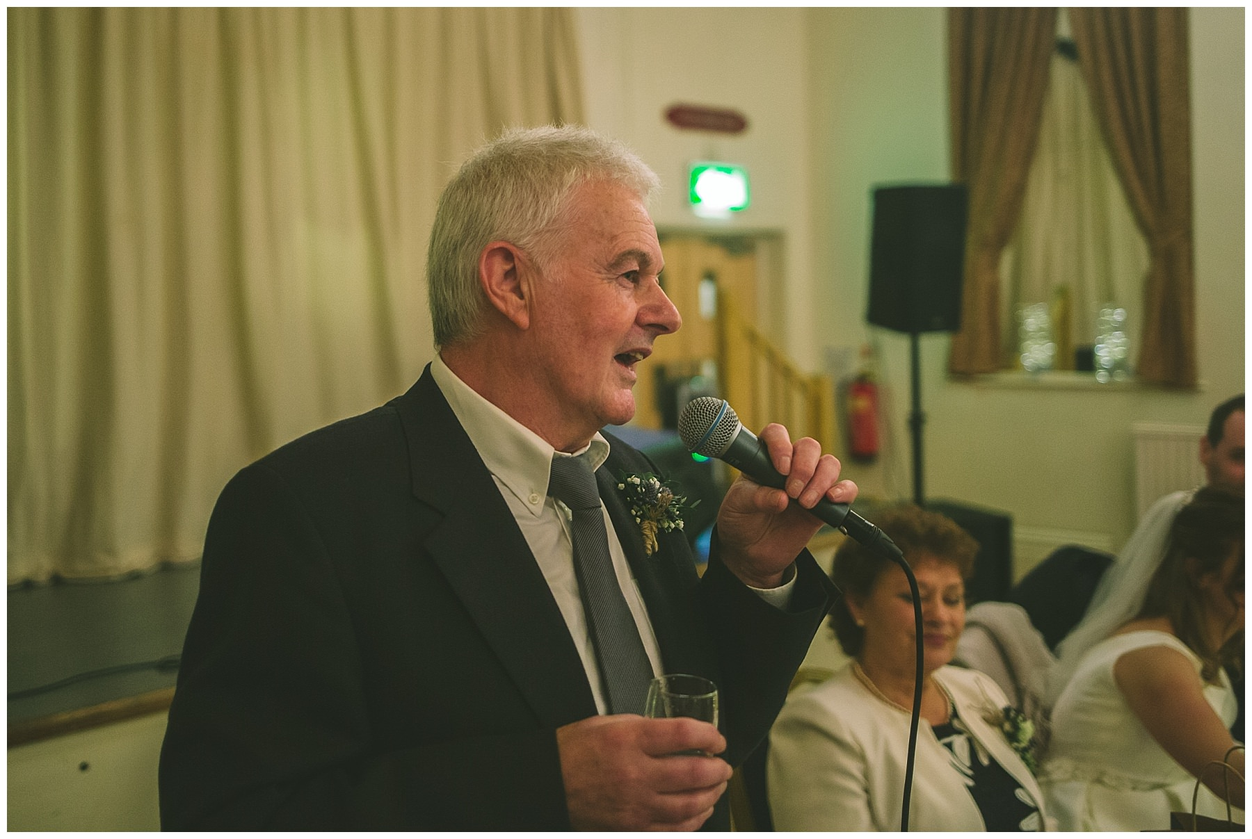 Father of the bride speaks at Ramsbottom wedding