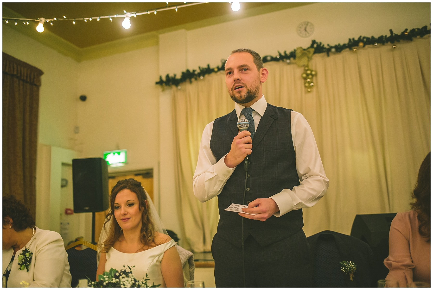 Grooms speech at Ramsbottom civic hall