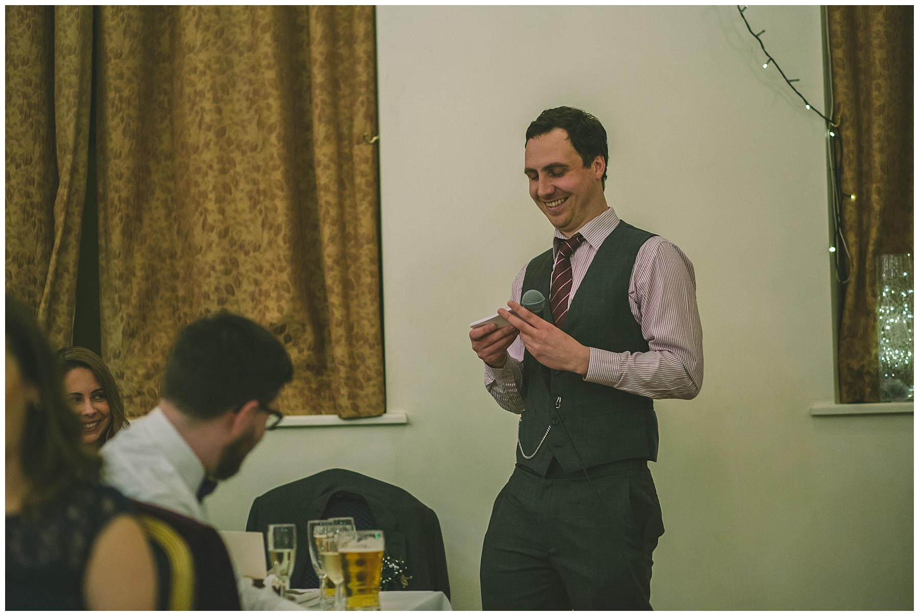Best man speaks at ramsbottom wedding
