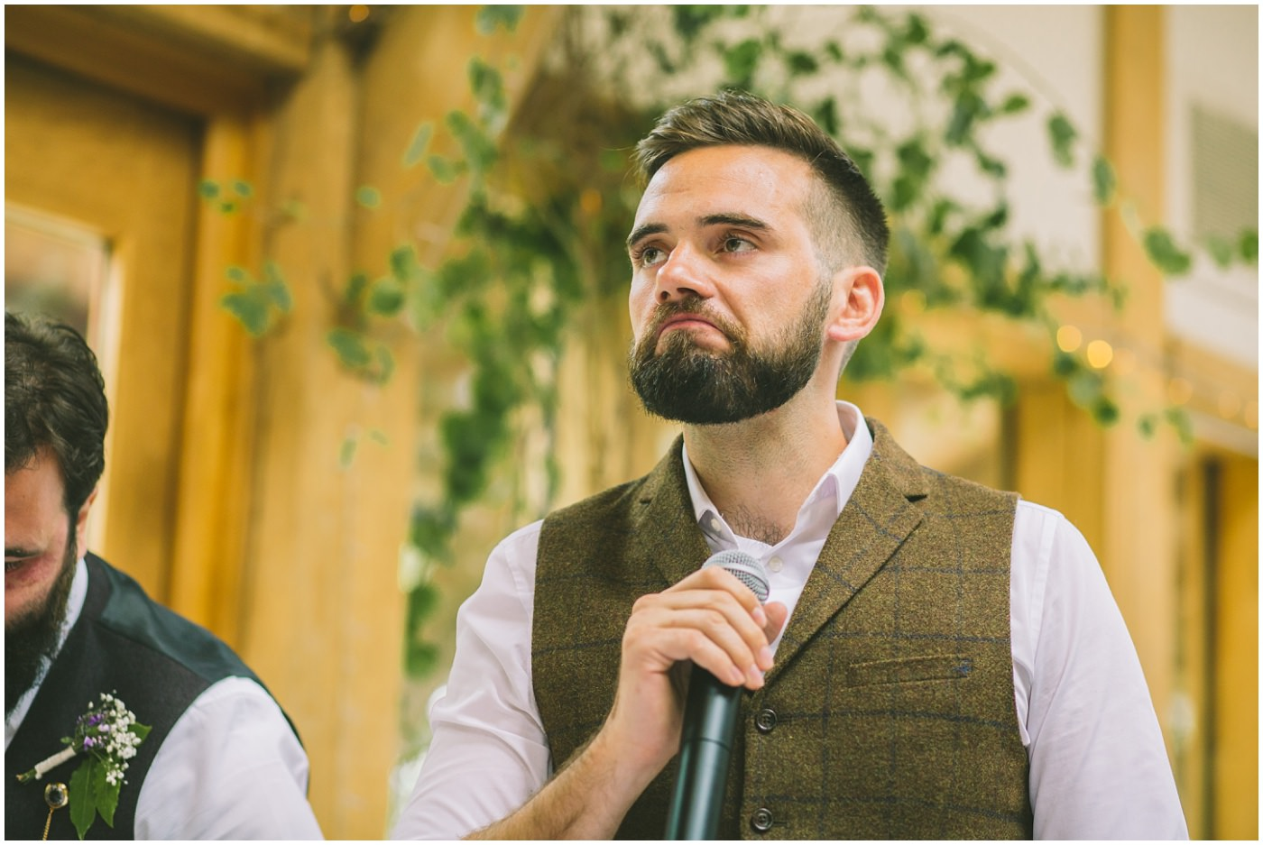 Best man prepares to roast his brother the groom